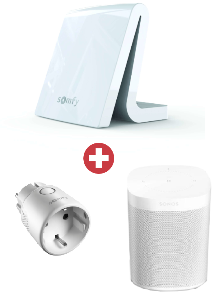 Somfy Vorteilspaket TaHoma Premium + Sonos One + Somfy Zwischenstecker io Plug