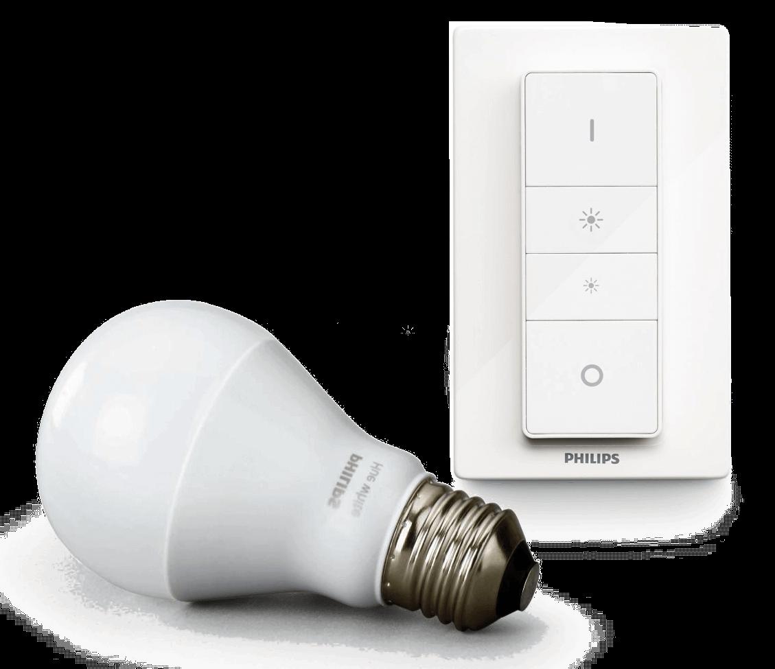 Philips Hue Wireless Dimming Kit, E27 LED Lampe inkl. Dimmschalter für warmweißes Licht