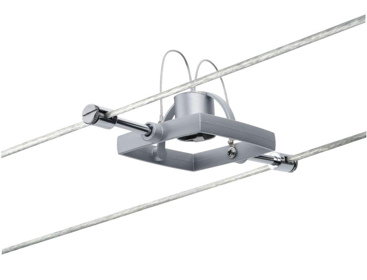 Paulmann Seilspot Mac II Chrom matt ohne Leuchtmittel, 12 V AC, max 10 W GU5,3