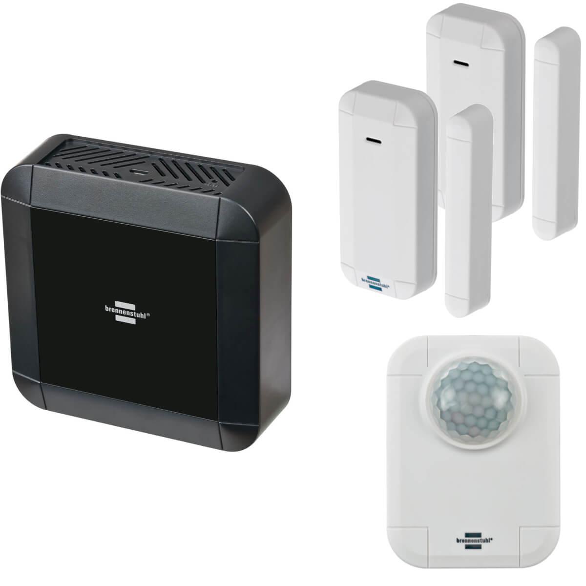 Brennenstuhl BrematicPRO Starter Set Überwachung - Gateway + 1 x Bewegungsmelder + 2 x Kontakt