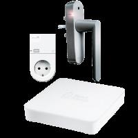 Smart Friends Box Smart Home Gateway inkl Funk-Steckdose und Funk-Alarmgriff silber Alarmanlage