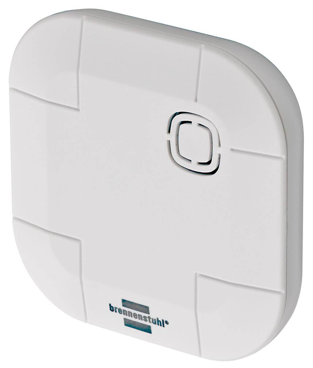 BrematicPro Funk-Wassermelder, Aufputz, Weiß (Brennenstuhl Smart Home) - Vermeiden von Wasserschäden