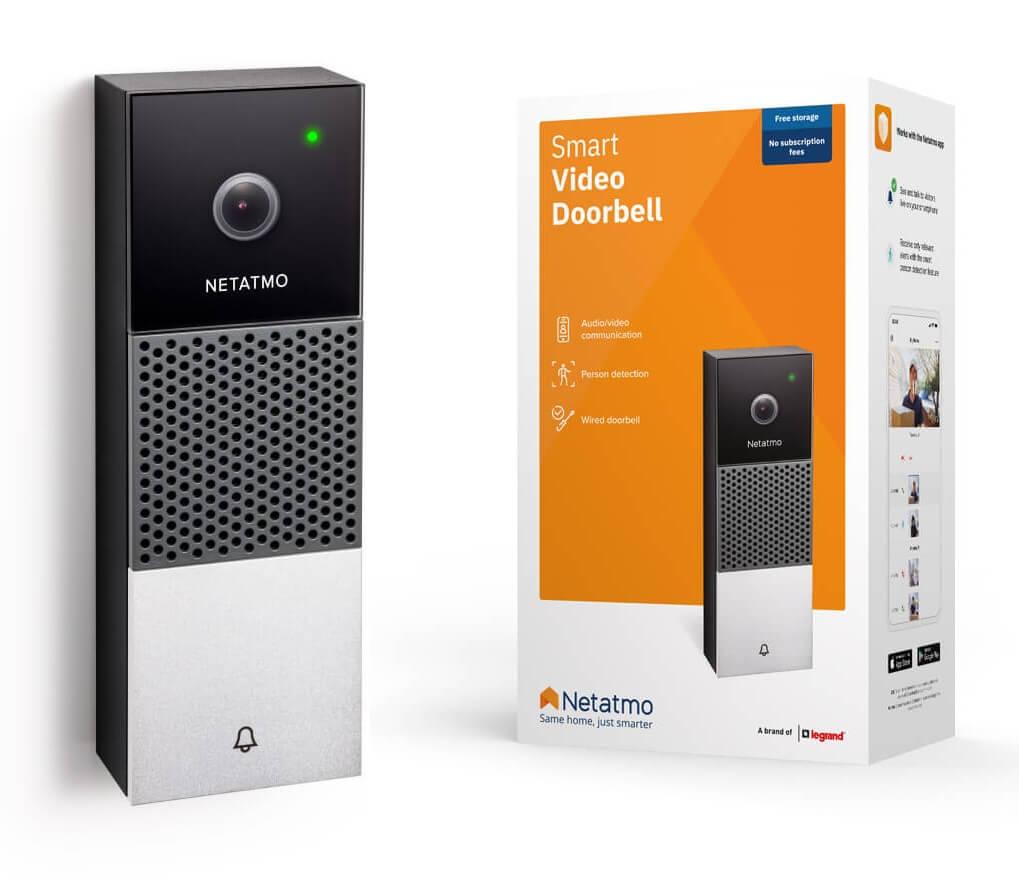 Netatmo Smarte Videotürklingel | Gegensprechanlage Bewegungserkennung Nachtsichtfunktion Livestream