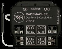 Rademacher Universal-Aktor 2-Kanal Unterputz, bis je 1500W, DuoFern-Funk