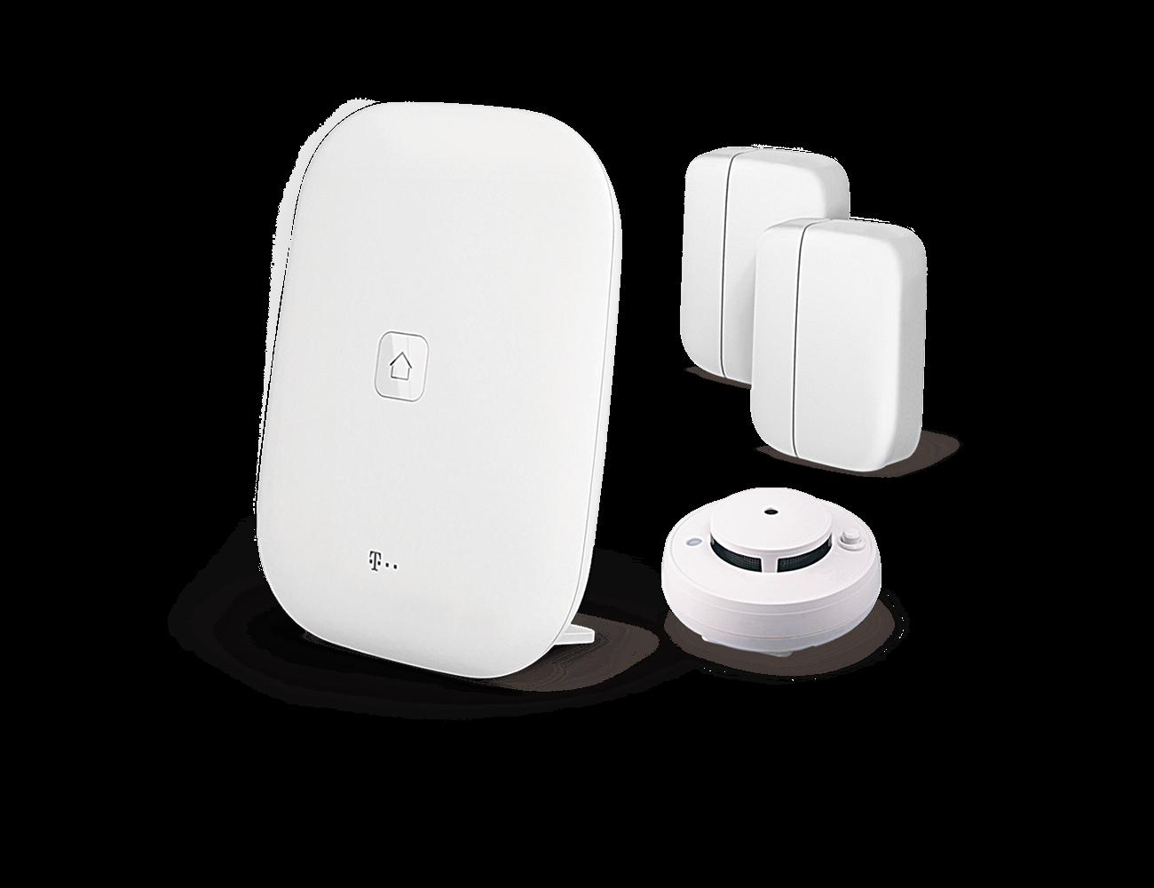 Einsteigerpaket Magenta SmartHome inkl. Rauchwarnmelder, 2 Fensterkontakten und Homebase (inkl. 24 Mon. App Lizenz)