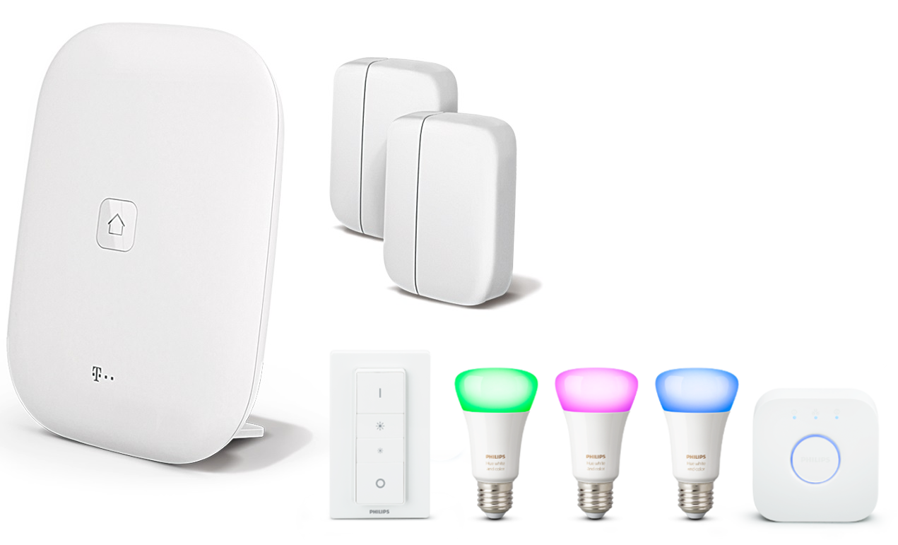 magenta smart home & philips hue led rgbw paket kaufen | smart home