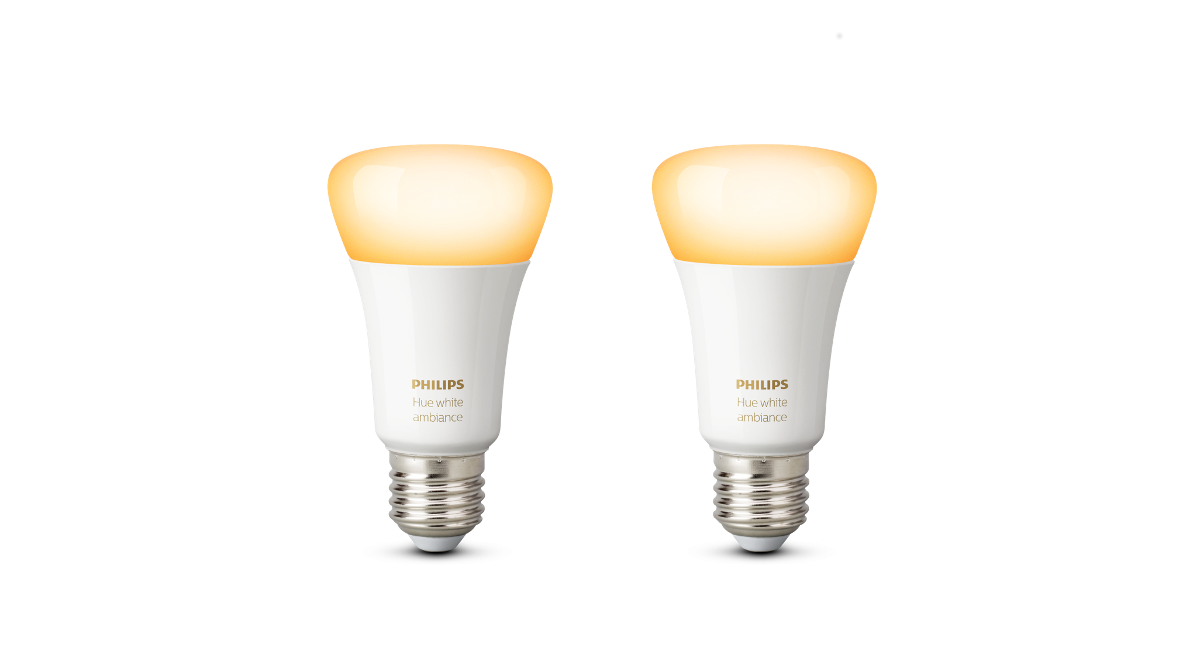 Philips Hue White Ambiance LED E27 Doppelpack 9,5 W | 2 x LED Leuchtmittel im Set