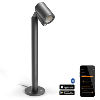 Steinel LED WegeleuchteSpot Way Sensor, Bluetooth Connect, Aluminium, 7 W, Anthrazit