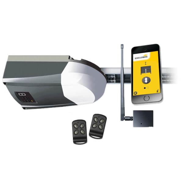 Schellenberg Komplettset aus Smart DRIVE 10 und Smartphone Garagentoröffner