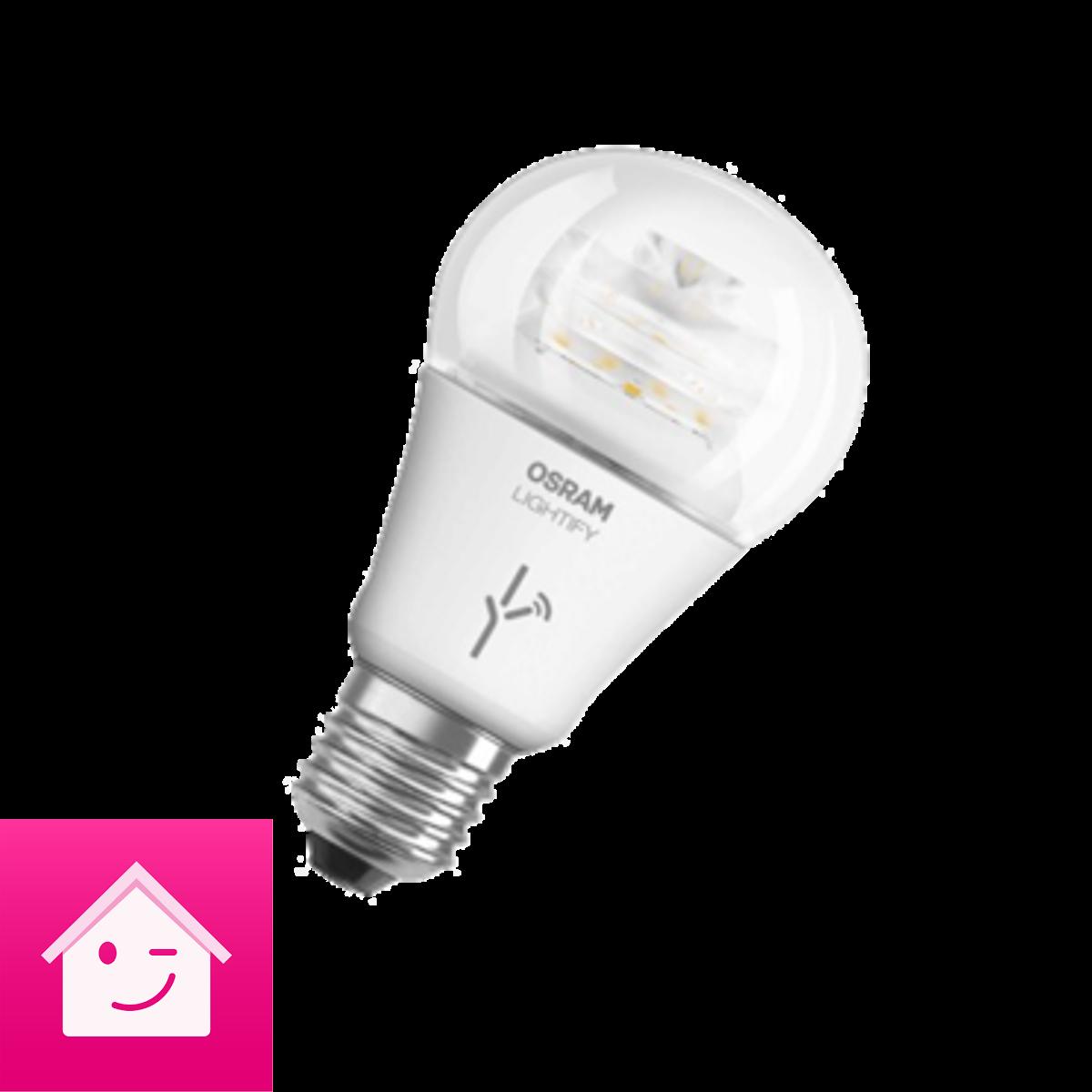 OSRAM LIGHTIFY Classic A LED-Glühlampe, 10 Watt, E27, klar, dimmbar / warmweiß 2700K