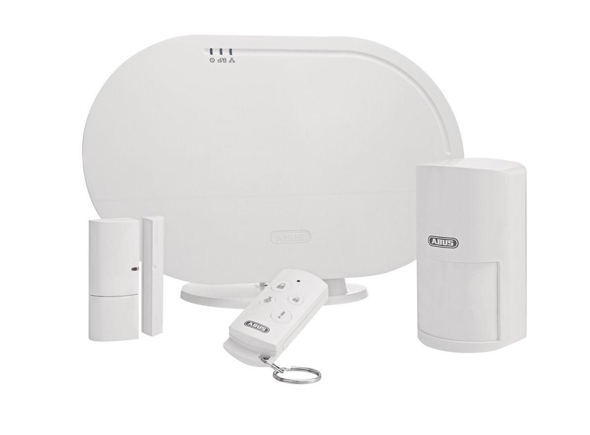 ABUS Basisset FUAA35001A Smartvest, Zentrale, Bewegungsmelder, Fernbedienung Alarmzentrale