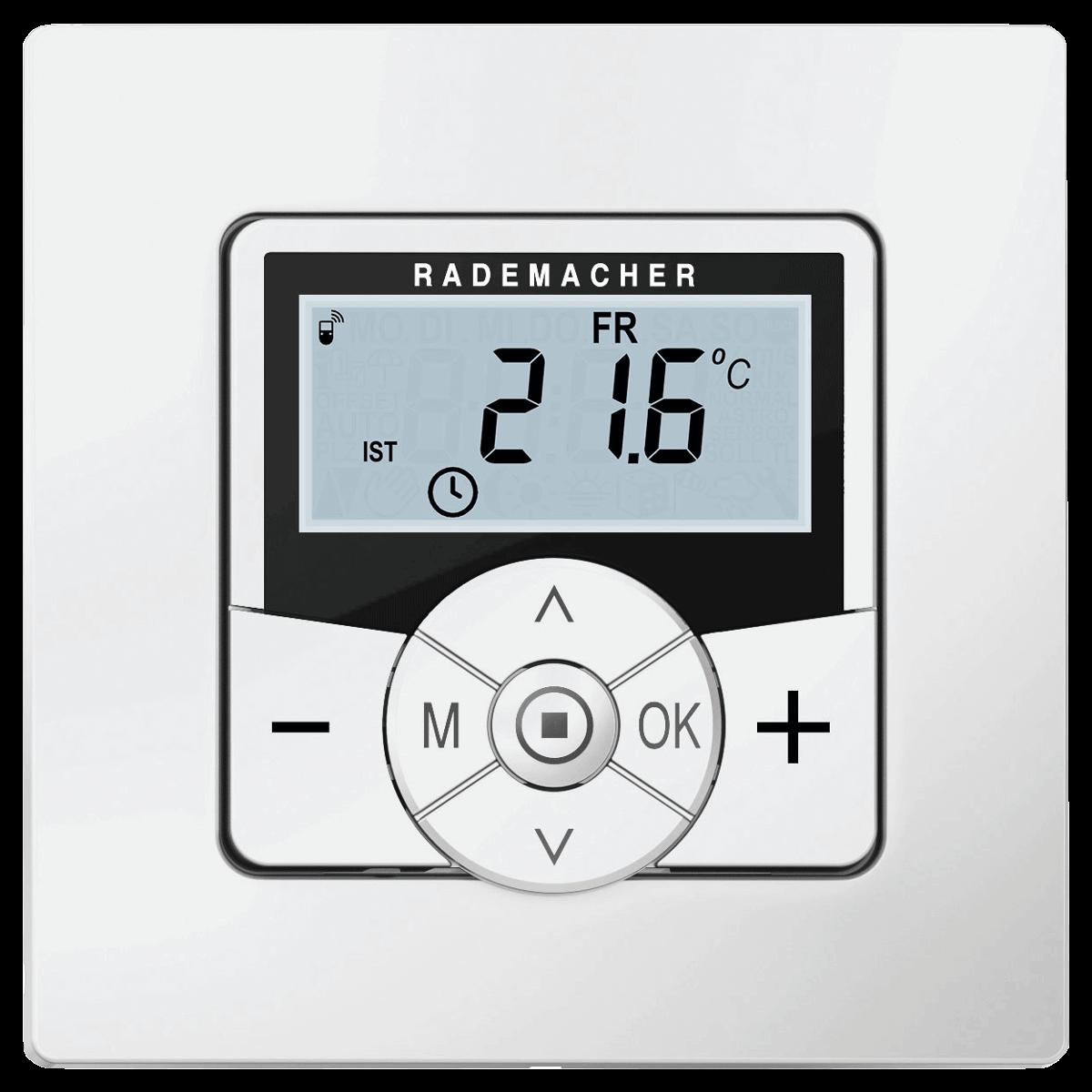 Rademacher Raumthermostat zur Steuerung von Heizkörpern und Fußbodenheizungen, mit DuoFern-Funk