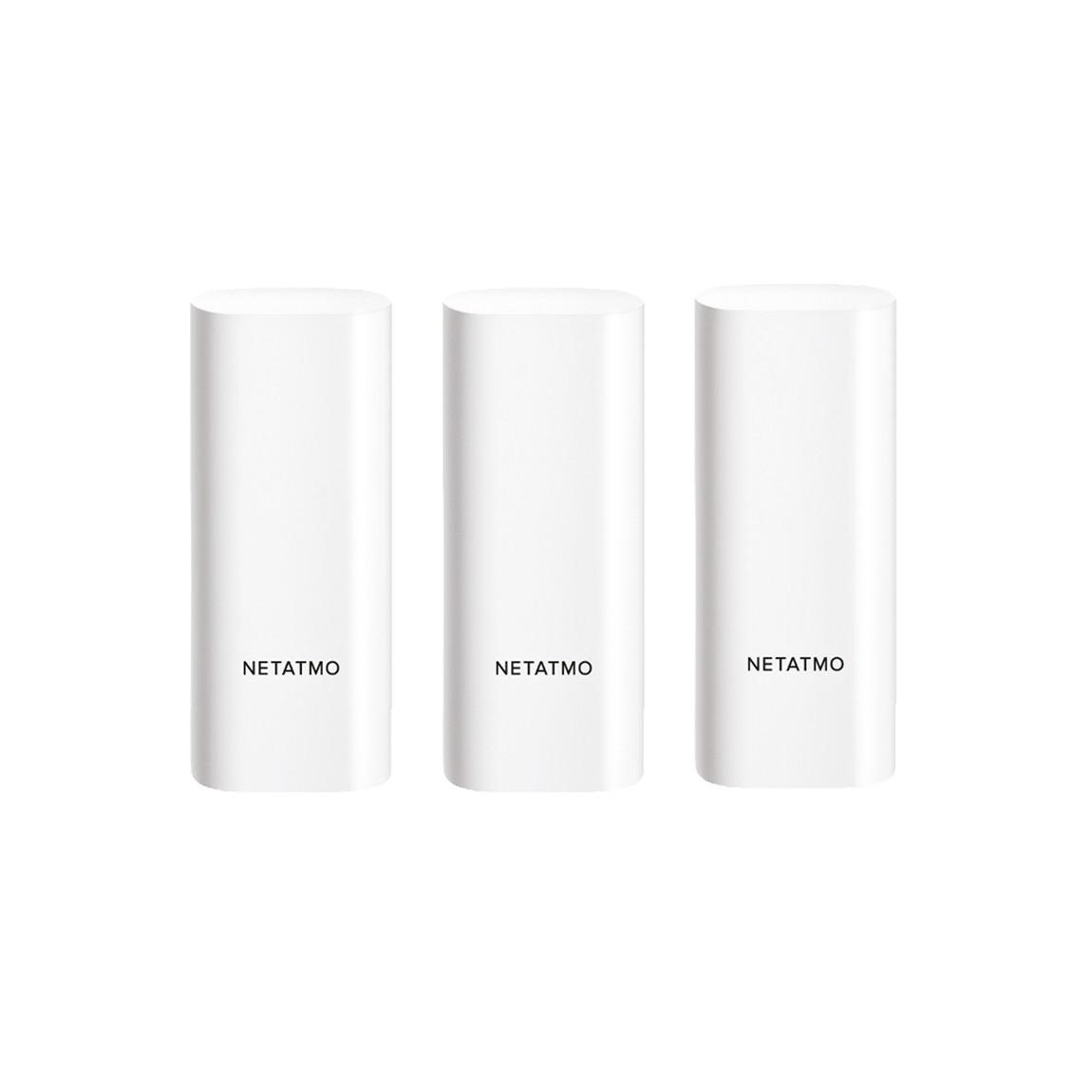 Netatmo Smarte Tür- und Fenstersensoren 3er-Pack Öffnungsmelder für Fensterstatus