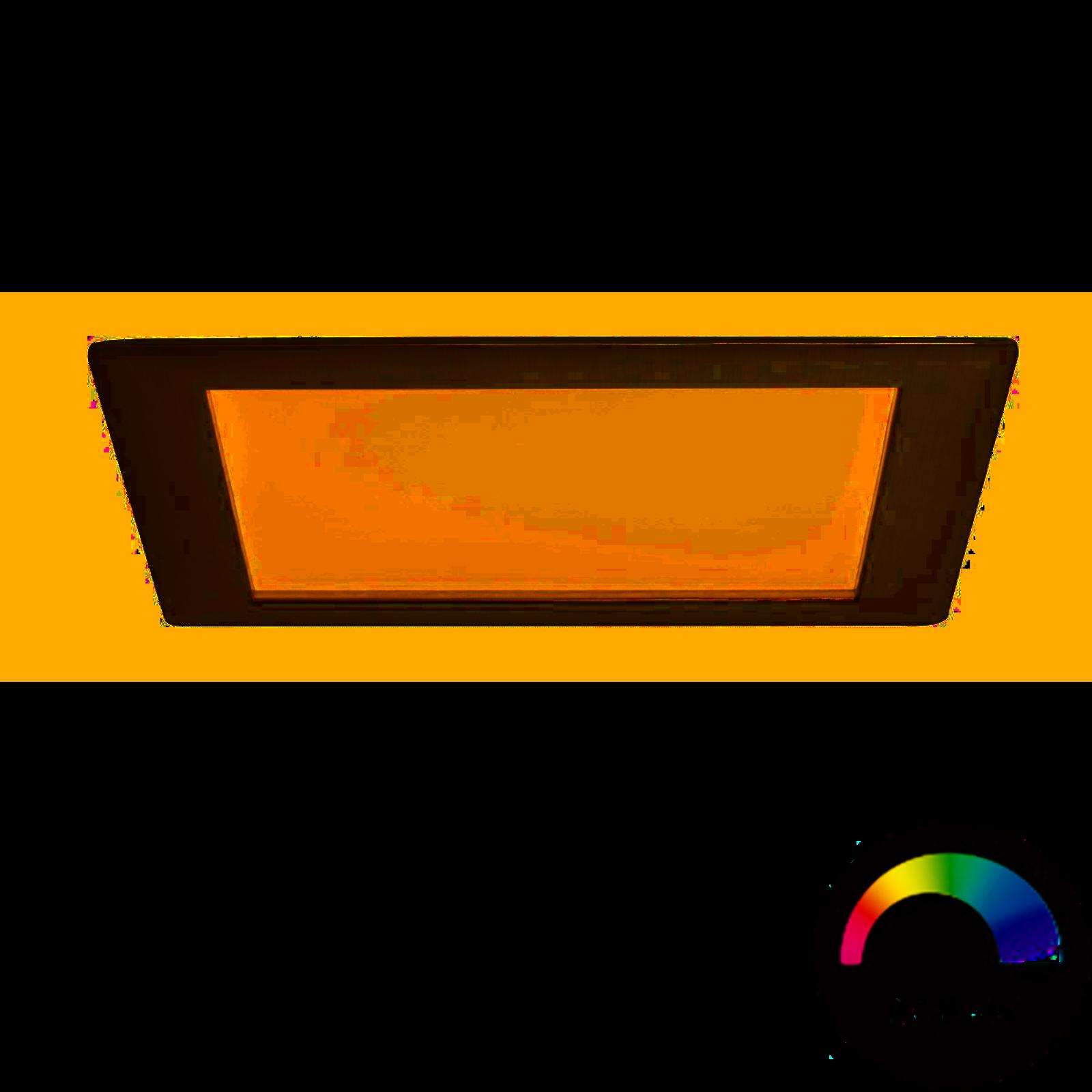 Paulmann LED Einbaupanel eckig 3,5W Eisen mit RGBW Farblichtsteuerung
