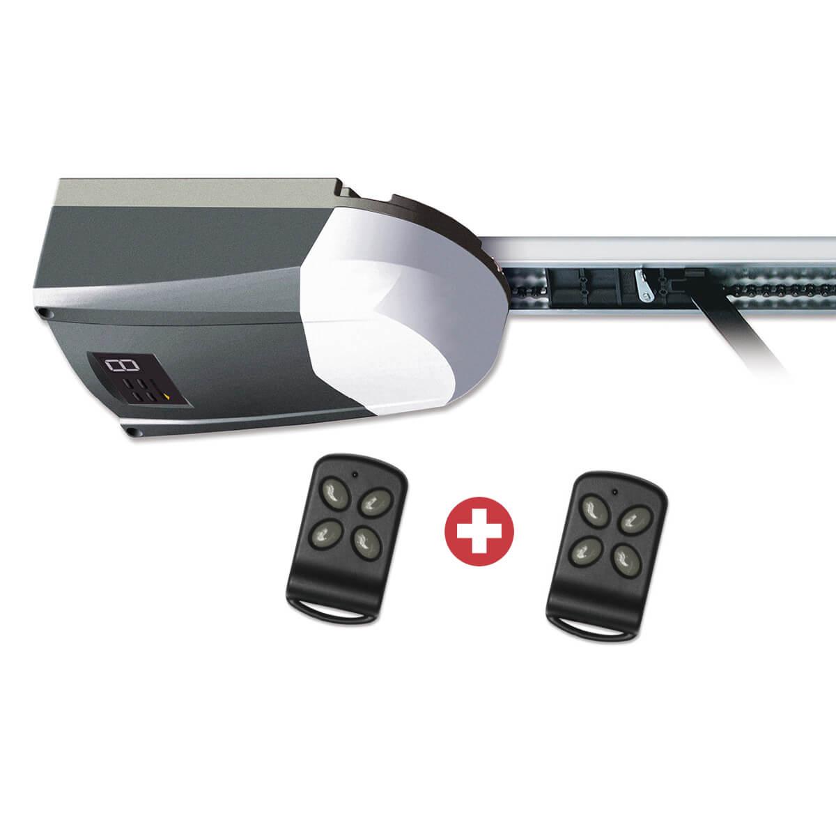 Schellenberg Komplettset aus DRIVE Action und zwei Funk-Handsendern | 500 N für max 8 m²