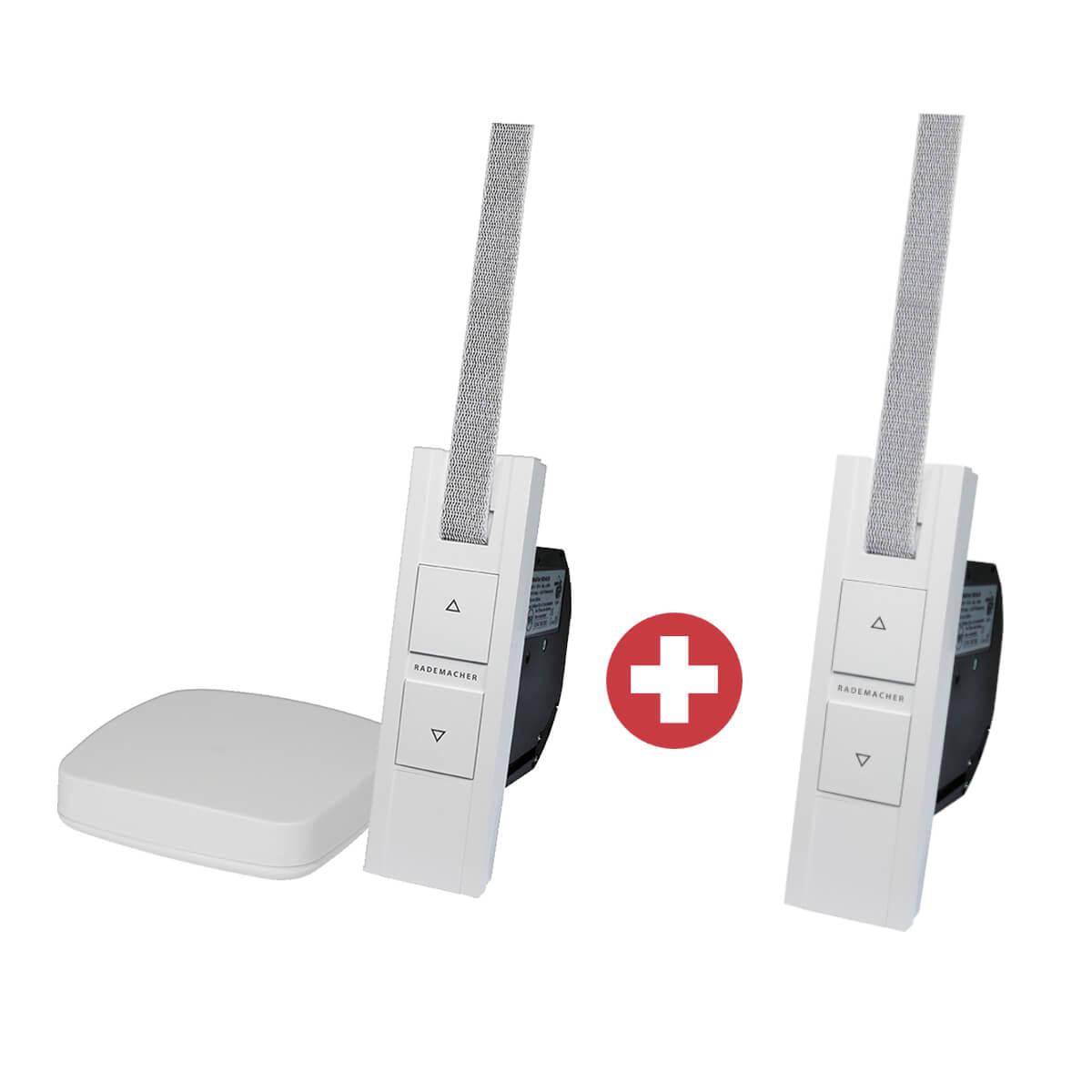 Rademacher Start2Smart Kit Smart Home Zentrale + 2x Funk-Gurtwickler RolloTron Basis DuoFern 1200