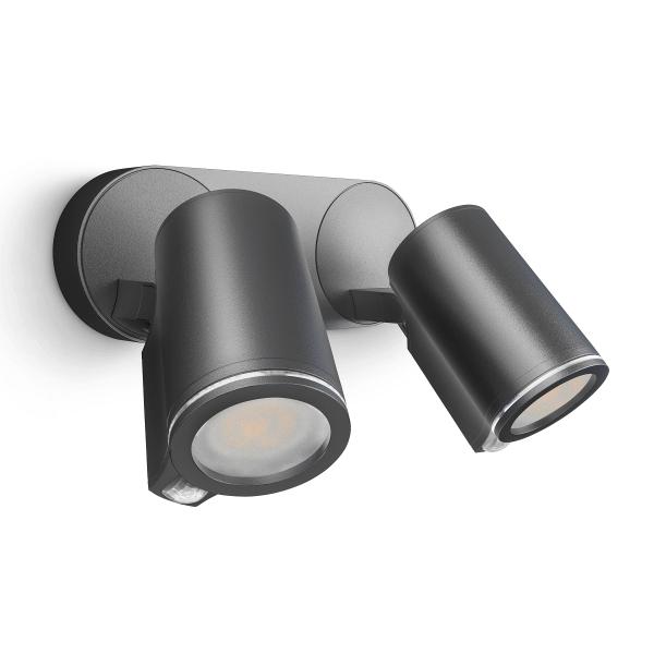 Steinel Spot DUO Sensorleuchte LED-Strahler Connect | Wandleuchte, Anthrazit mit Bluetooth