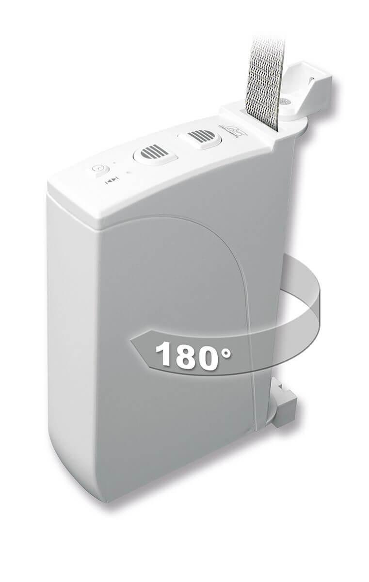 Schellenberg ROLLODRIVE 35 | elektrischer Gurtwickler, Mini-Gurte (14 mm Gurt-Breite), Aufputz