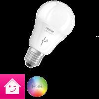 OSRAM LIGHTIFY Classic A LED-Glühlampe, A+, 10 Watt, E27, matt, dimmbar / warmweiß 2700K - 6500K und