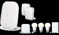 Paket Sicherheit & Licht Magenta SmartHome | Starter-Set mit Base, Leuchten & Sensoren