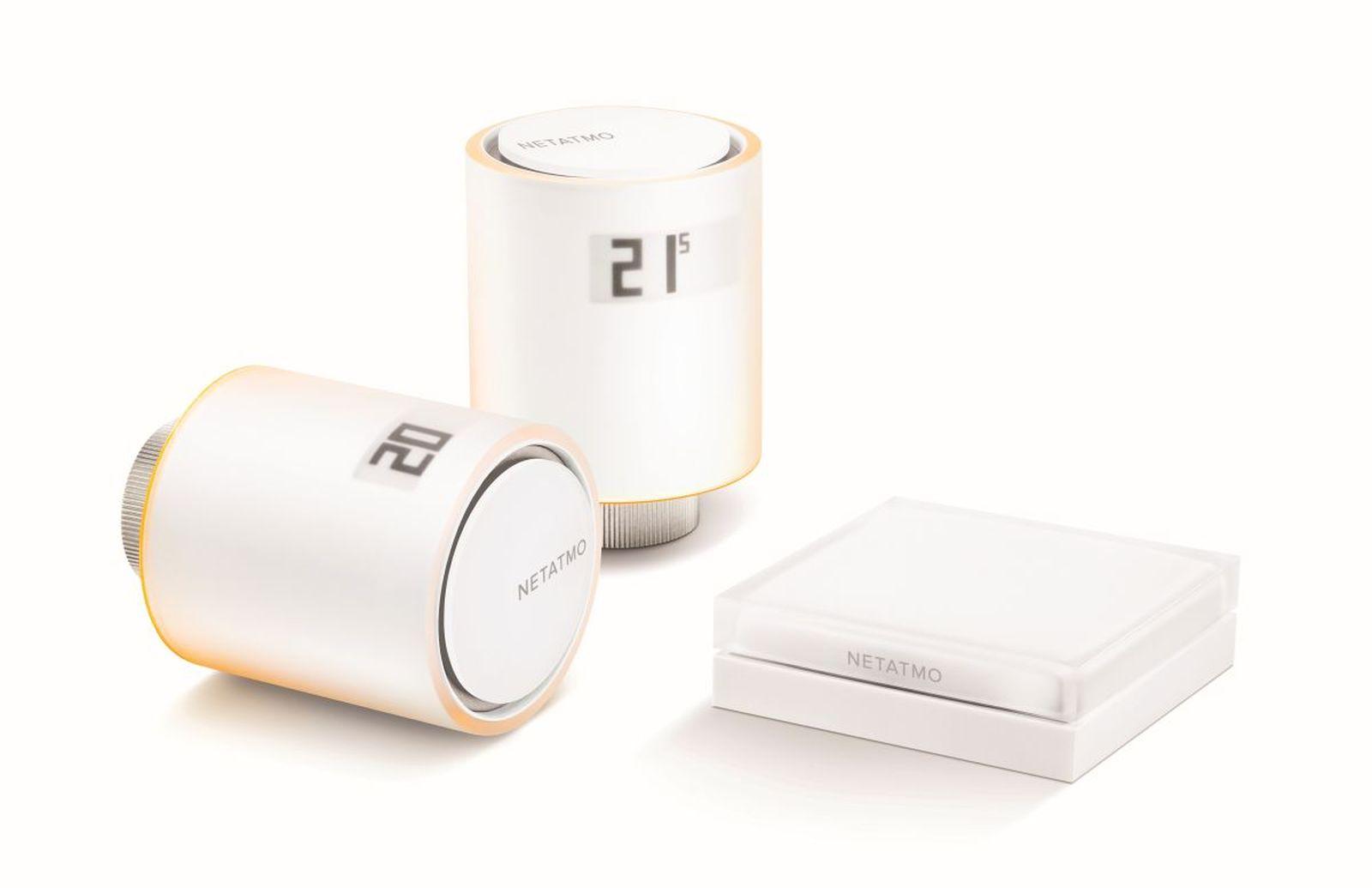 Netatmo Smarte Heizkörperthermostate, Starterpack mit 2 Thermostaten & Relais | Siri & Alexa