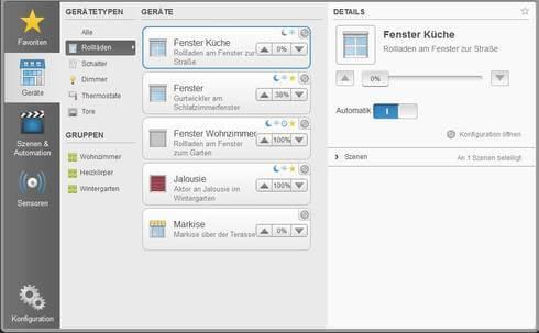Bedienoberfläche HomePilot App