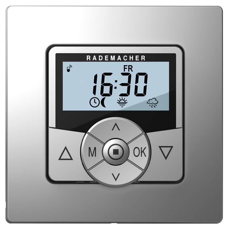 Rademacher Troll Comfort Steuerung, aluminium, mit beleuchtetem Display, Tastfunktion und DuoFern-Funk