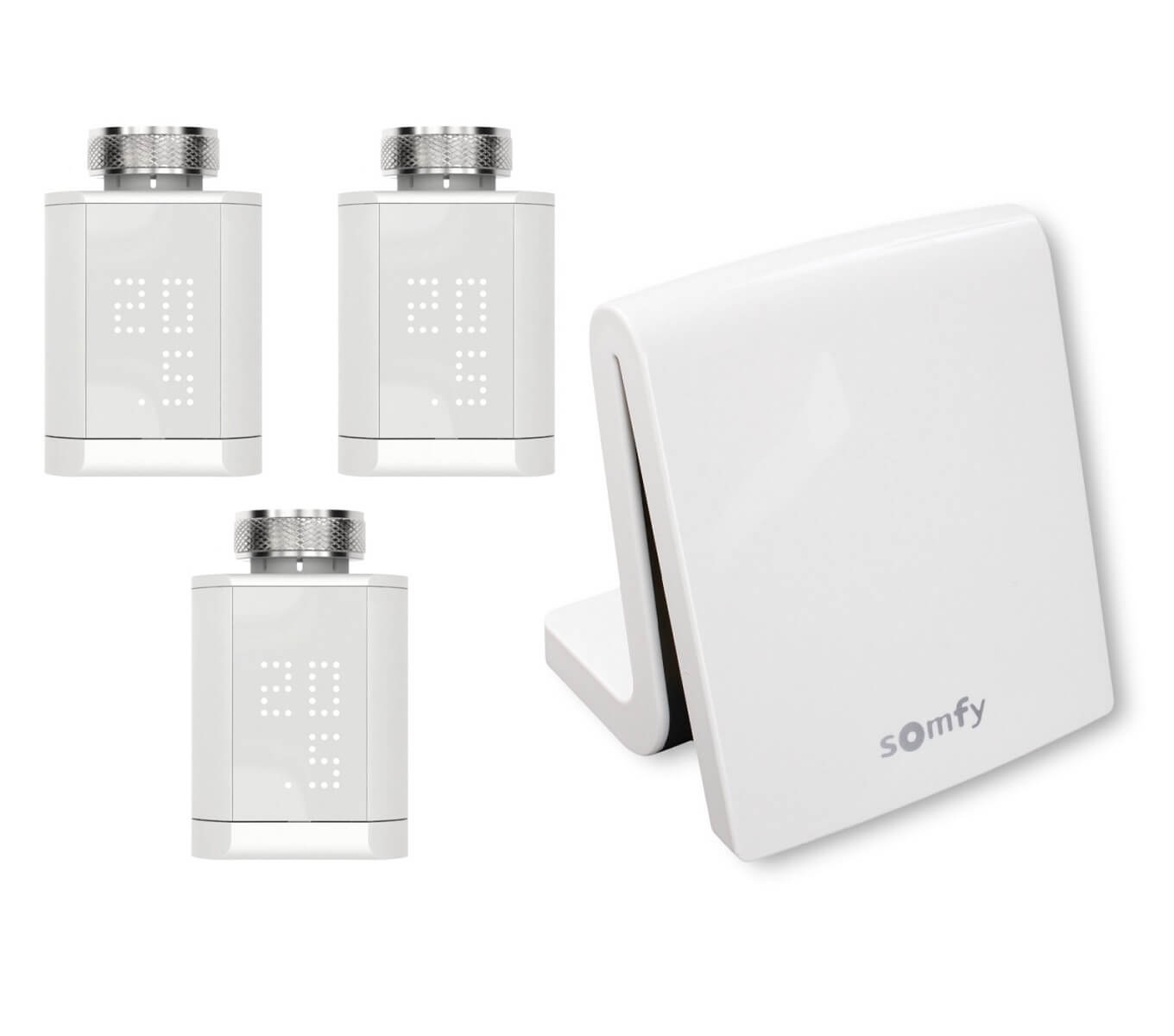 Somfy TaHoma Smart Home Gateway Starterpaket 3er Set Funk Heizkörperthermostat Stellantrieb io App