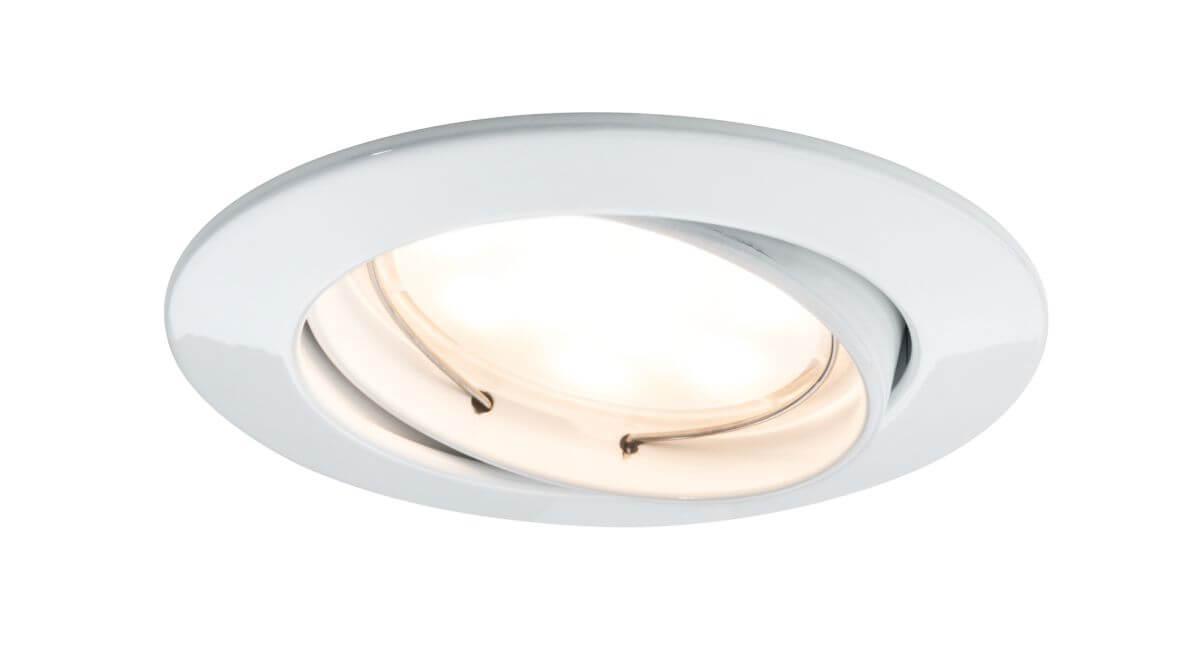 Paulmann LED Einbauleuchte SmartCoin Weiß, Weißlicht-Steuerung per App