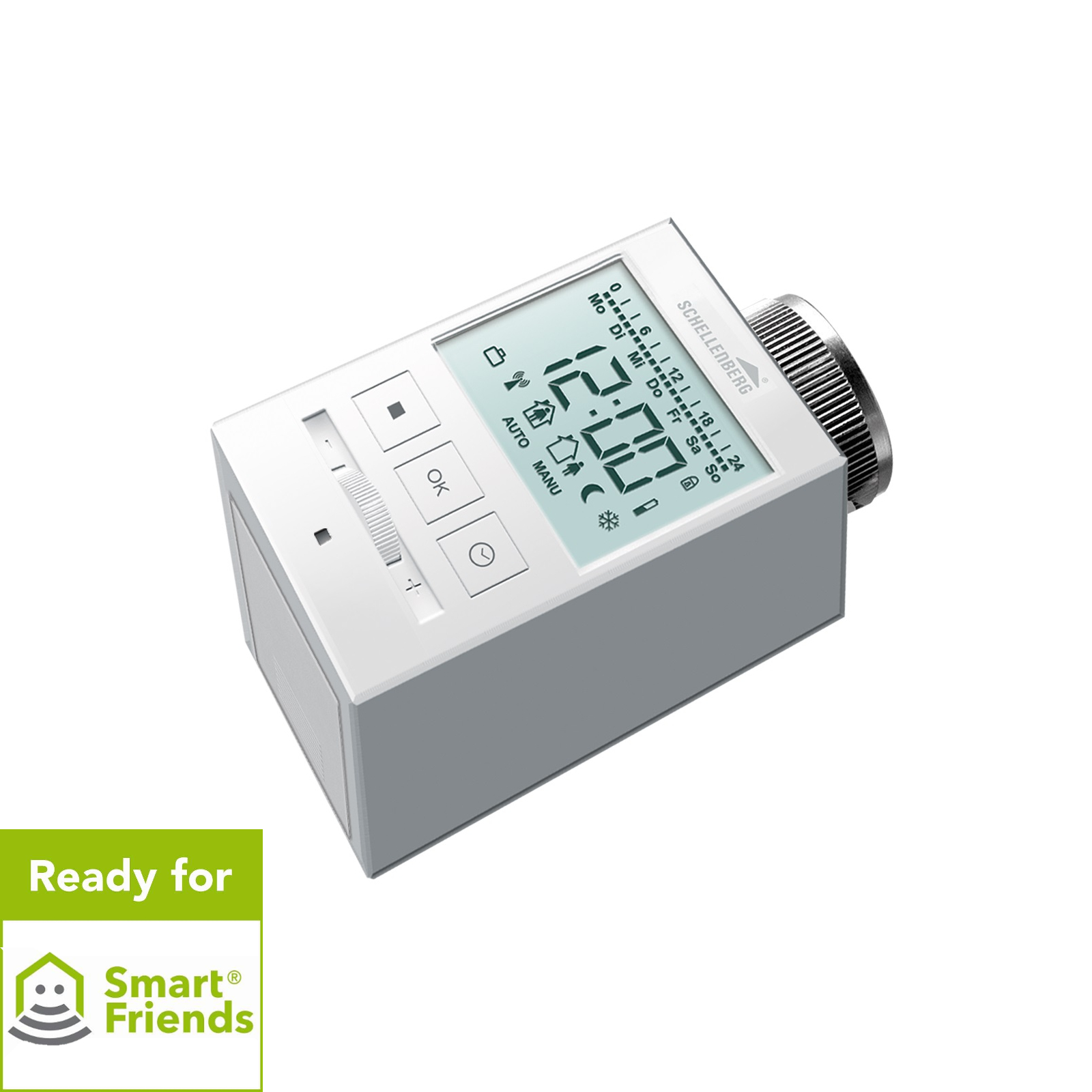 schellenberg funk heizk rperthermostat wei funk thermostat neu ebay. Black Bedroom Furniture Sets. Home Design Ideas