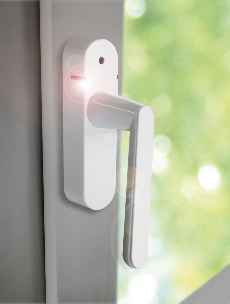 schellenberg smart home fenstergriff mit alarm und funk in wei mit variabler ebay. Black Bedroom Furniture Sets. Home Design Ideas