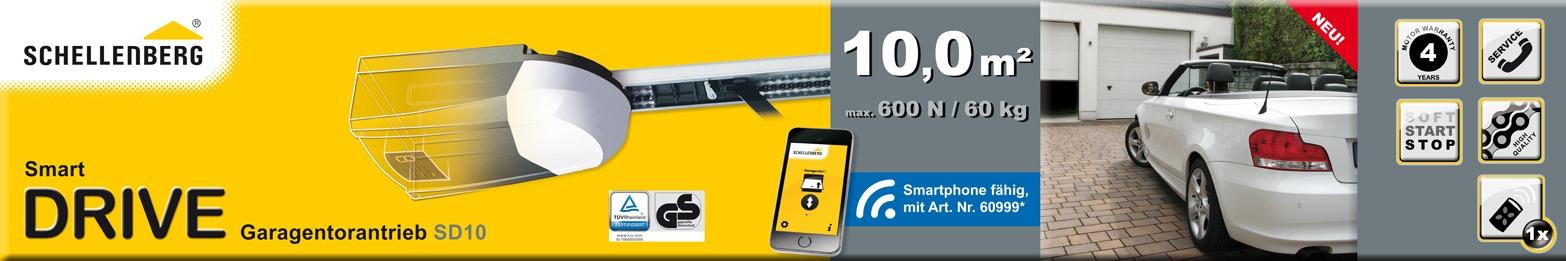 schellenberg komplettset aus smart drive 10 und smartphone garagentor ffner ebay. Black Bedroom Furniture Sets. Home Design Ideas